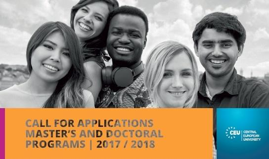 Central European University - Call for Application 2017-18